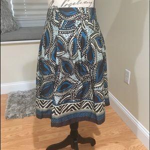 St. John's Bay Printed Lined Skirt